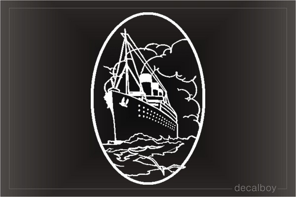 Cruises Ship 2 Window Decal