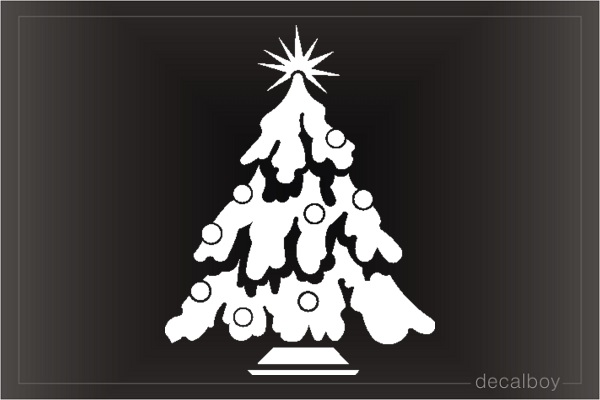 Christmas Tree Car Decal