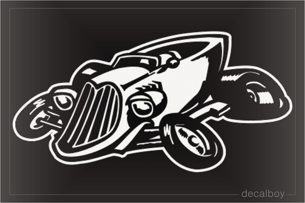 Racing Car 123 Window Decal