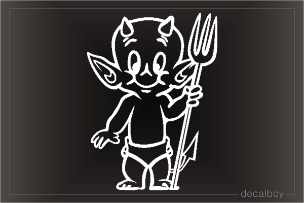 Little Devil Car Window Decal