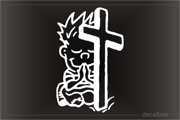 Pray Cross Car Window Decal
