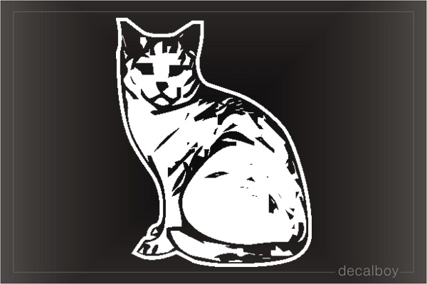 Cat Maine Coon Window Decal