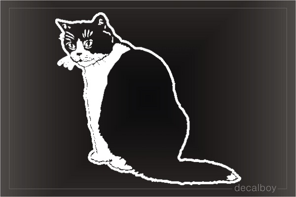 House Cat Window Decal