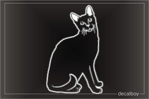 Cat Abyssinian Window Decal