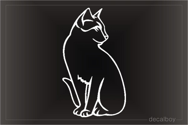 Cat American Shorthair Window Decal