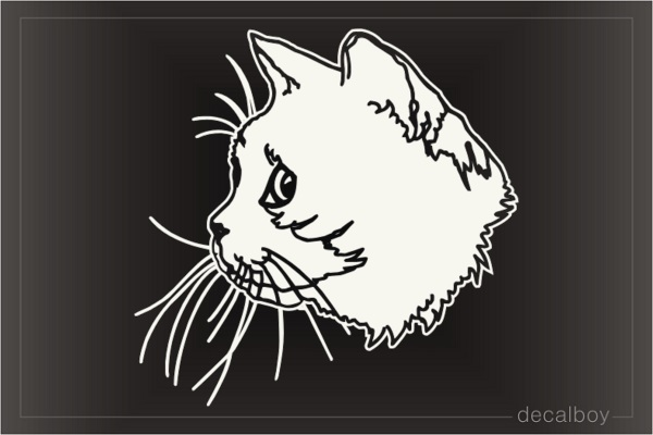 Cat Head 775 Window Decal