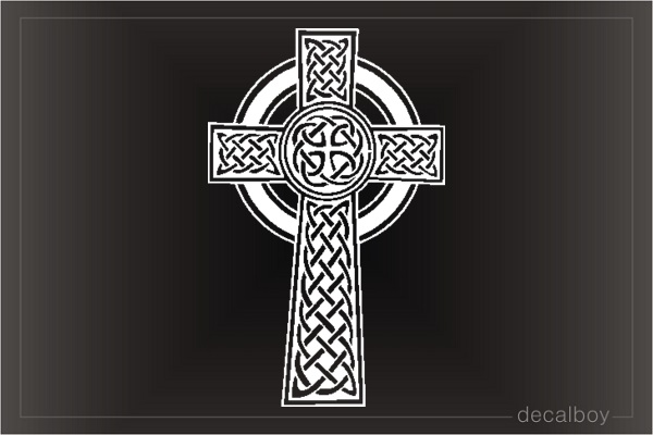 Celtic Cross Pattern Window Decal
