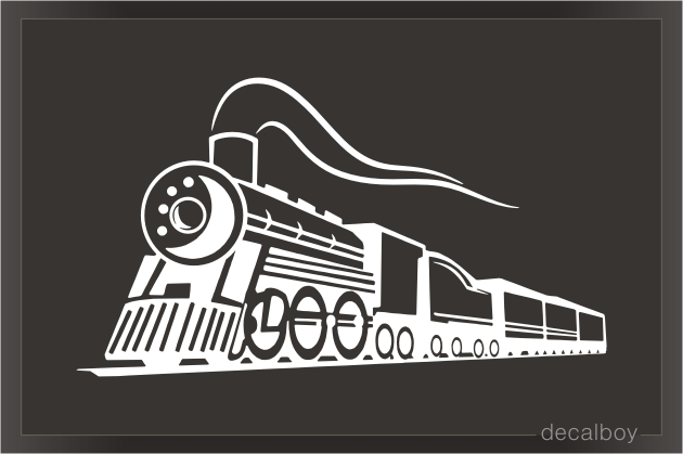 Chimney Locomotive Train Decal