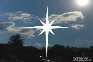 Christmas Star Decal