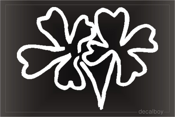 Clover Leaf Window Decal