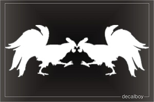 Cock Fight Window Decal