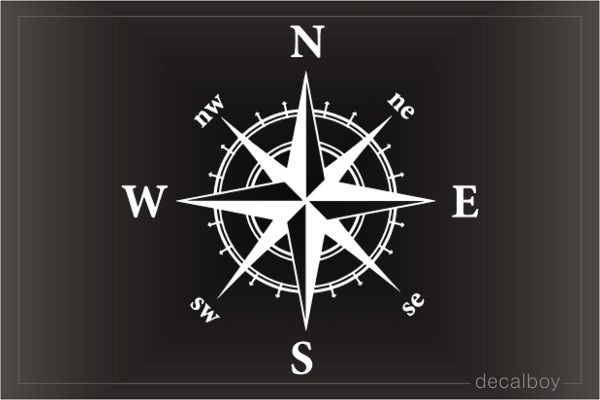 Compass Nautical Decal