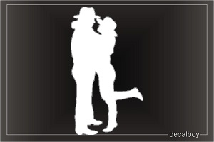 Couple Car Window Decal