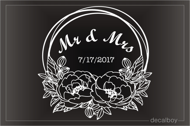 Couples Engagement Decal