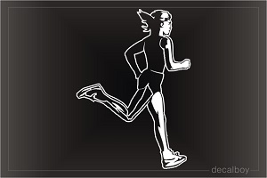 Cross Country Runner Window Decal
