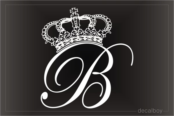 Crown B Queen Decal - Window decals for cars