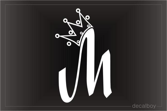 Crown M Hockey/girl Car Window Stickers