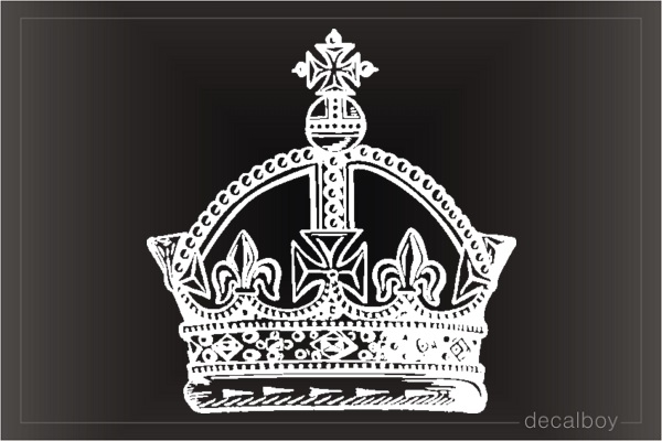 British Imperial Crown Car Window Decal