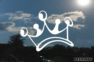 Imperial King Crown Car Window Decal