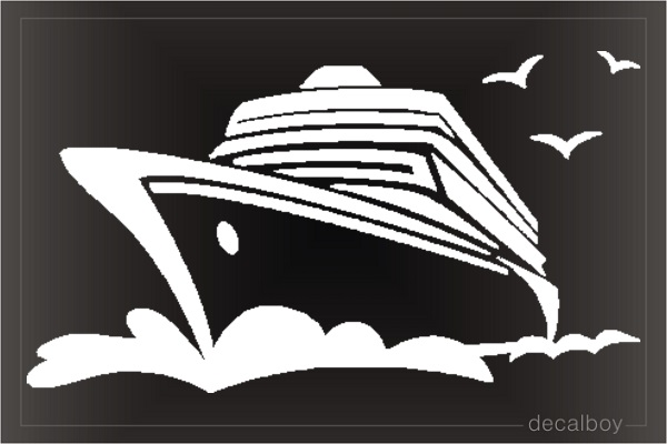 Cruise Ship Ocean Car Decal