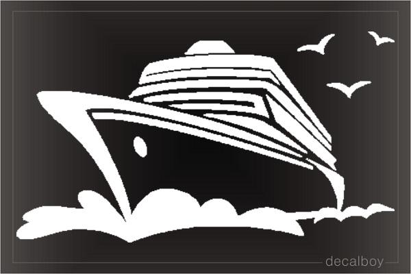 Cruise Ship Ocean Decal