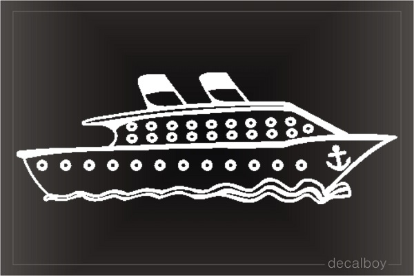 Cruise Ship Car Decal