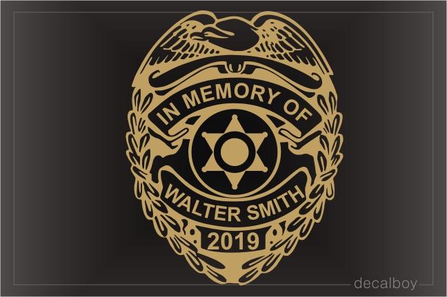 Police, Sheriff Decals & Stickers   Decalboy