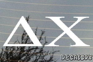 Delta Chi Vinyl Die-cut Decal