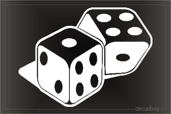 Dice Car Decal