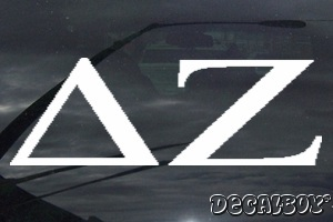 Delta Zeta Vinyl Die-cut Decal