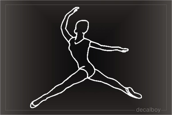Dancer Ballet 4578 Car Window Decal