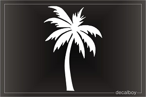 Dancing Palm Tree Window Decal