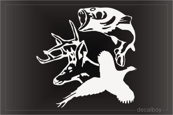 Deer Fasan Hunting Decal