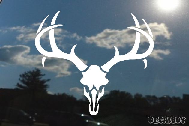Deer Hunt Skull Decal
