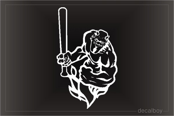 Devil 33 Car Window Decal