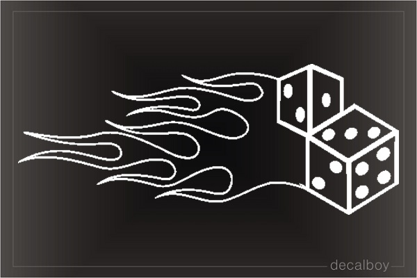 Dice Flames Clipart Die-cut Decal