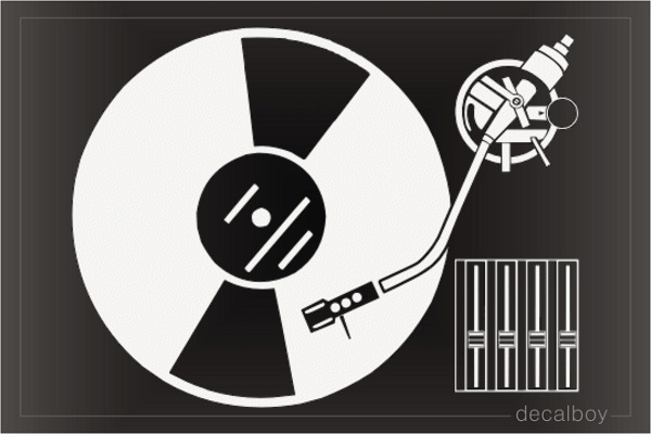 Djs Turntable Decal