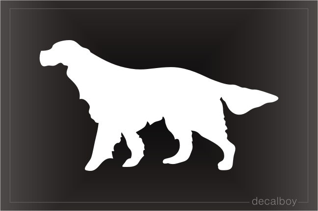 Irish Setter Silhouette Car Window Decal
