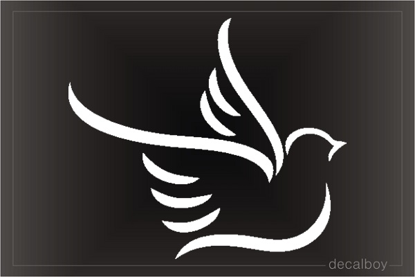 Dove Tribal Window Decal