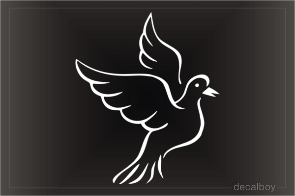 Pigeon Flying Decal