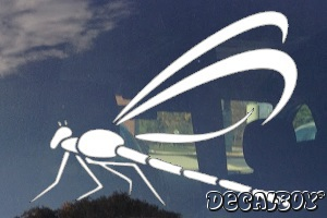 Dragonfly Tribal Design Car Window Decal