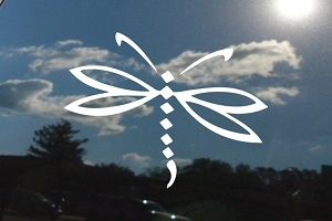 Dragonfly Tribal Car Window Decal