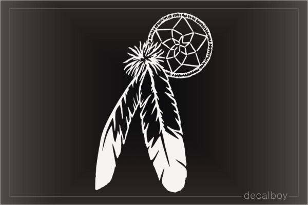 Dreamcatcher Feathers Decal