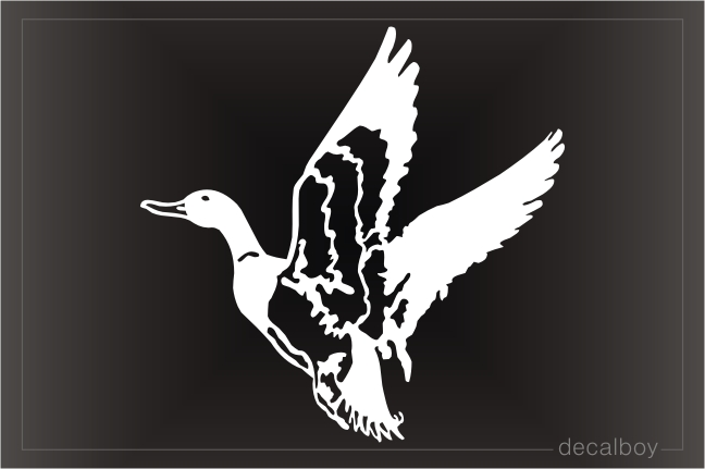 Duck Muscovy Flying Window Decal