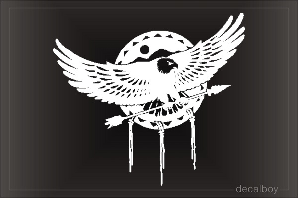 Eagle Dreamcatcher Window Decal