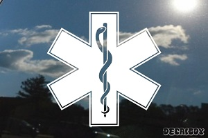Emergency Medical Symbol Car Decal