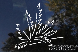 Palm Leaf Window Decal