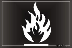 Fire Sign Car Decal