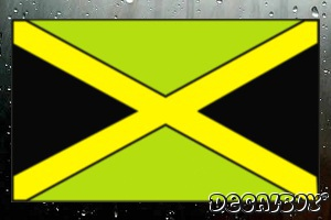 Jamaican Flag Color Auto Decal