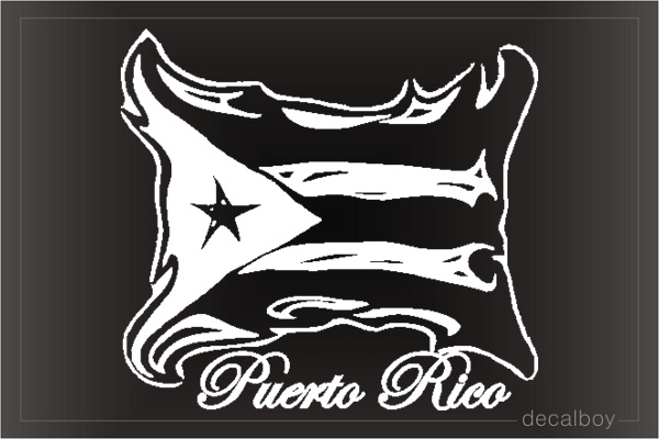 Puerto Rico Auto Decal